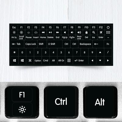 Funkční a modifikační kompletní nálepky na celou klávesnici