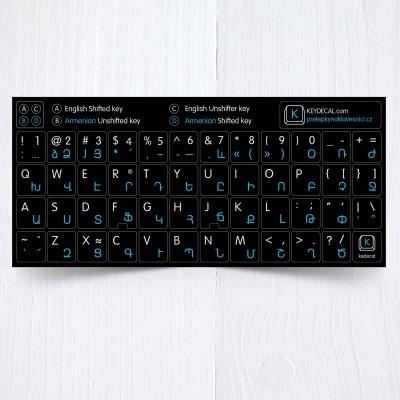 Arménské přelepky na celou klávesnici