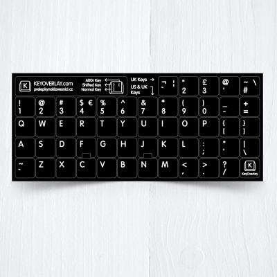 b uk us  english keyboad stickers