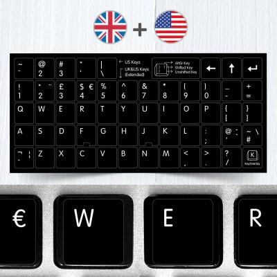Britská a americká klávesnice v jednom – univerzální přelepky celých kláves