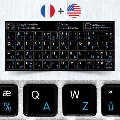 Francouzské a anglické přelepky na černém pozadí (rozšířená verze)