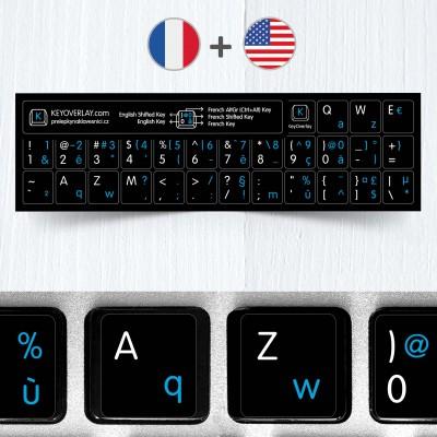 Francouzské a anglické přelepky na černém pozadí (zkrácená verze)