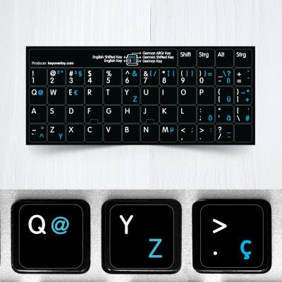 b german us keyboard stickers