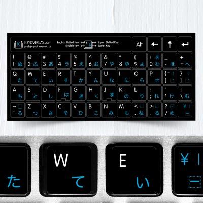 Japonské přelepky na celou klávesnici