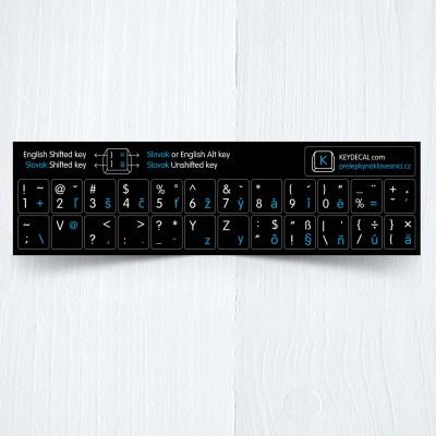 Slovak keyboard small modra
