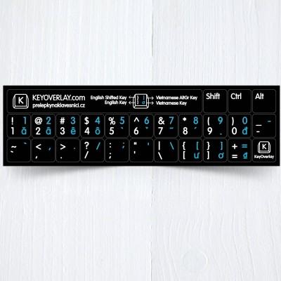 b vietnam en short keyboad stickers