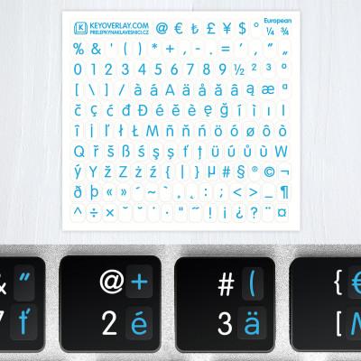 t european keyboard blue