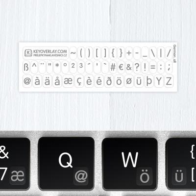 t german keyboard stickers g