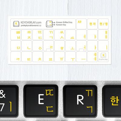 Korejské průhledné přelepky celých kláves počítače