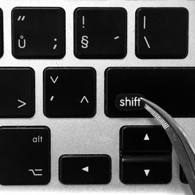 shift key sticker