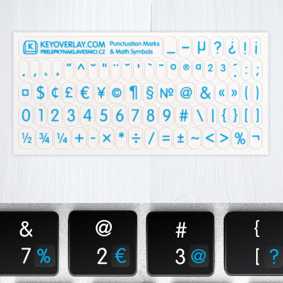 t punctuatioan symbols blue2