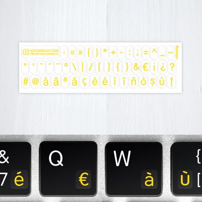 s roman lettes white yellow