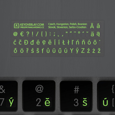 t czech fluorescent keyboard stickers night