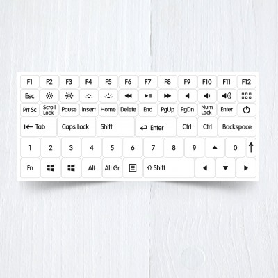 white function modifications keyboard stickers